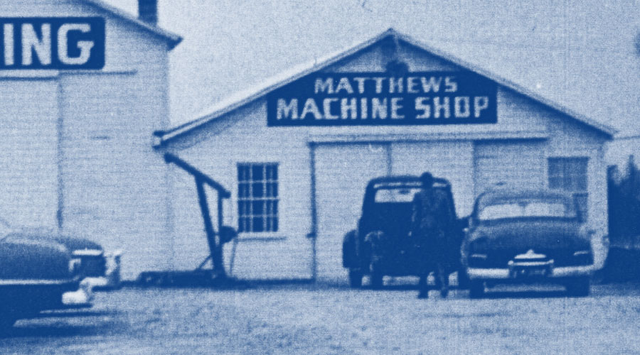 Ropak Timeline 1949 - Matthews Machine Shop